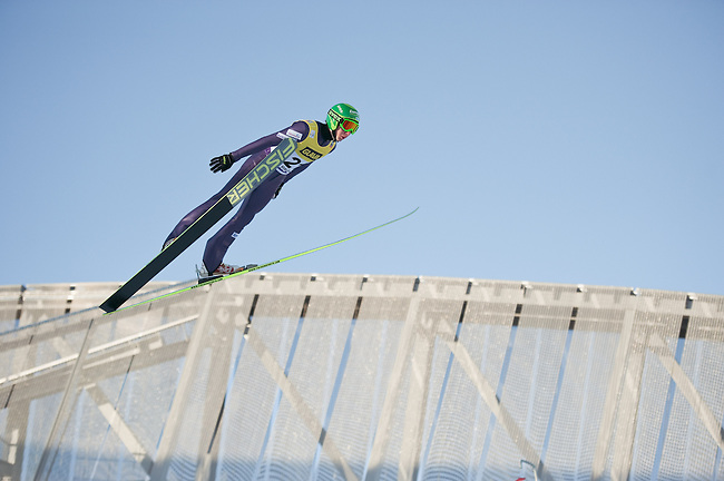 HOLMENKOLLEN, OSLO, NORWAY - March 14: Ilkka Herola of Finland (FIN) during the official training for the FIS Nordic Combined World Cup from the large hill HS 134 Holmenkollbakken on March 14, 2013 in Oslo, Norway. (Photo by Dirk Markgraf).