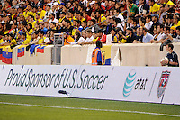 ATT. The men's national team of the United States (USA) was defeated by Ecuador (ECU) 1-0 during an international friendly at Red Bull Arena in Harrison, NJ, on October 11, 2011.