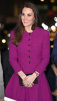 06 February 2017 - Princess Kate, Duchess of Cambridge at The Guild of Health Writers Conference with Heads Together held at Chandos House in London. The Guild of Health Writers is an independent membership organisation representing many of Britain's leading health journalists and writers and encompassing the whole spectrum of health and wellbeing. Photo Credit: ALPR/AdMedia