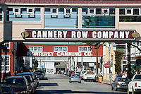 The main street of Cannery Row, Monterey, California