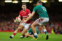 Tomos Williams of Wales in action during the under armour summer series 2019 match between Wales and Ireland at the Principality Stadium, Cardiff, Wales, UK. Saturday 31st August 2019