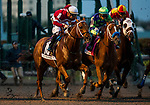 HALLANDALE BEACH, FL - JANUARY 27: Florent Geroux Guides Gun Runner out of the gate at a pivotal point in the Pegasus World Cup Invitational at Gulfstream Park Race Track on January 27, 2018 in Hallandale Beach, Florida. (Photo by Alex Evers/Eclipse Sportswire/Getty Images)