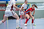 Mannheim, Germany, December 01: During the Bundesliga indoor women hockey match between Mannheimer HC and Nuernberger HTC on December 1, 2019 at Irma-Roechling-Halle in Mannheim, Germany. Final score 7-1. (Copyright Dirk Markgraf / 265-images.com) *** Jules Meffert #97 of Mannheimer HC