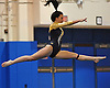 Bethpage gymnastics at Long Beach High School Monday, January 4, 2016. Gabby Castles - Floor