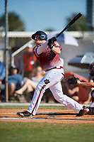 Will Butcher during the WWBA World Championship at the Roger Dean Complex on October 20, 2018 in Jupiter, Florida.  Will Butcher is a first baseman from Arden, North Carolina who attends T.C. Roberson High School and is committed to North Carolina State.  (Mike Janes/Four Seam Images)