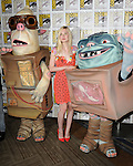 Elle fanning and Boxtrolls at the Boxtrolls Panel at Comic-Con 2014  held at The Hilton Bayfront Hotel in San Diego, Ca. July 26, 2014.