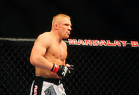 Oct. 29, 2011; Las Vegas, NV, USA; UFC fighter Dennis Siver during a lightweight bout during UFC 137 at the Mandalay Bay event center. Mandatory Credit: Mark J. Rebilas-