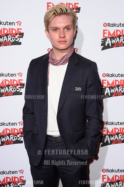 Tom Glynn-Carney arriving for the Empire Awards 2018 at the Roundhouse, Camden, London, UK. <br /> 18 March  2018<br /> Picture: Steve Vas/Featureflash/SilverHub 0208 004 5359 sales@silverhubmedia.com