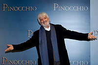 Gigi Proietti as Mangiafuoco (Fire eater)<br /> Rome December 12th 2019. Pinocchio Photocall in Rome<br /> Foto Samantha Zucchi Insidefoto