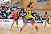 Central Manawa&rsquo;s Maddy Gordon in action during the Beko Netball League - Central Manawa v Southern Blast at ASB Sports Centre, Wellington, New Zealand on Sunday 12 May 2019. <br /> Photo by Masanori Udagawa. <br /> www.photowellington.photoshelter.com