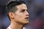 James Rodriguez of FC Bayern Munich looks on prior to the UEFA Champions League Semi-final 2nd leg match between Real Madrid and Bayern Munich at the Estadio Santiago Bernabeu on May 01 2018 in Madrid, Spain. Photo by Diego Souto / Power Sport Images