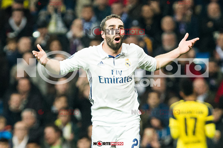 Real Madrid's Daniel Carvajal  during Champions League match between Real Madrid and Borussia Dortmund  at Santiago Bernabeu Stadium in Madrid , Spain. December 07, 2016. (ALTERPHOTOS/Rodrigo Jimenez) /NortePhoto.com