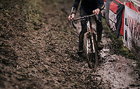 trying to find a way...<br /> <br /> Junior Men's Race<br /> Belgian National CX Championschips<br /> Kruibeke 2019
