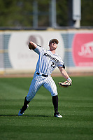 UCF Knights Chandler Robertson (22) during practice before a game against the Siena Saints on February 17, 2019 at John Euliano Park in Orlando, Florida.  UCF defeated Siena 7-1.  (Mike Janes/Four Seam Images)