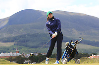 Alessia Nobilio (ITA) on the 2nd tee during Round 1 of the Women's Amateur Championship at Royal County Down Golf Club in Newcastle Co. Down on Tuesday 11th June 2019.<br /> Picture:  Thos Caffrey / www.golffile.ie<br /> <br /> All photos usage must carry mandatory copyright credit (© Golffile | Thos Caffrey)