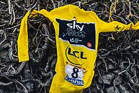 Picture by Russell Ellis/russellis.co.uk/SWpix.com - image archived on 25/04/2019 Cycling Tour de France 2018 - Team Sky at the Tour de France - STAGE 21: HOUILLES - PARIS Champs-Elysées 29/07/2018<br /> - Yellow Jersey