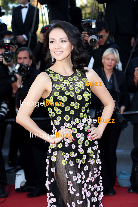 CPE/Un Certain Regard' jury member Zhang Ziyi attends the 'Zulu' Premiere and Closing Ceremony during the 66th Annual Cannes Film Festival at the Palais des Festivals on May 26, 2013 in Cannes, France