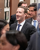 Mark Zuckerberg, Co-Founder and Chief Executive Officer of Facebook, makes the rounds on Capitol Hill prior to giving testimony before Congress on Tuesday and Wednesday on Monday, April 9, 2018<br /> Credit: Ron Sachs / CNP<br /> (RESTRICTION: NO New York or New Jersey Newspapers or newspapers within a 75 mile radius of New York City)
