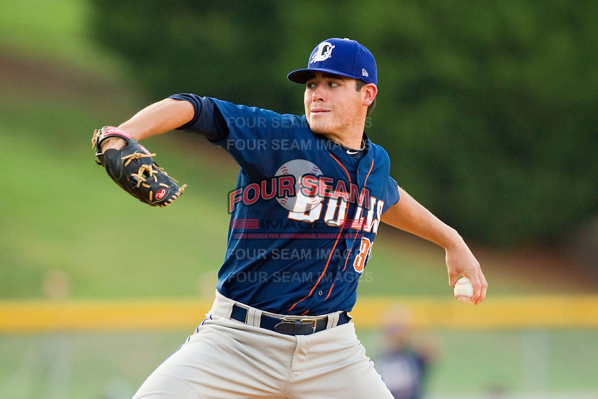 Starting pitcher Matt Moore #33 of the Durham Bulls in action against the Charlotte Knights at Knights Stadium on August 2, 2011 in Fort Mill, South Carolina.  The Bulls defeated the Knights 18-3.   (Brian Westerholt / Four Seam Images)