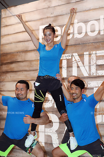"June 16, 2016, Tokyo, Japan - Japanese model Anne Nakamura poses for photo as she attends a promotion event for ""Reebok Fitness Battle Race"" in Tokyo on Thursday, June 16, 2016. Reebok Fitness Battle Race is a four-person team event of obstacle race, which will be held at the German village in Chiba prefecture on October 1.   (Photo by Yoshio Tsunoda/AFLO) LWX -ytd"