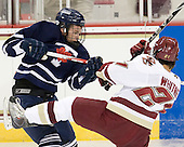 Sean Fontyn (Toronto - 26), Steven Whitney (BC - 21) - The Boston College Eagles defeated the visiting University of Toronto Varsity Blues 8-0 in an exhibition game on Sunday afternoon, October 3, 2010, at Conte Forum in Chestnut Hill, MA.