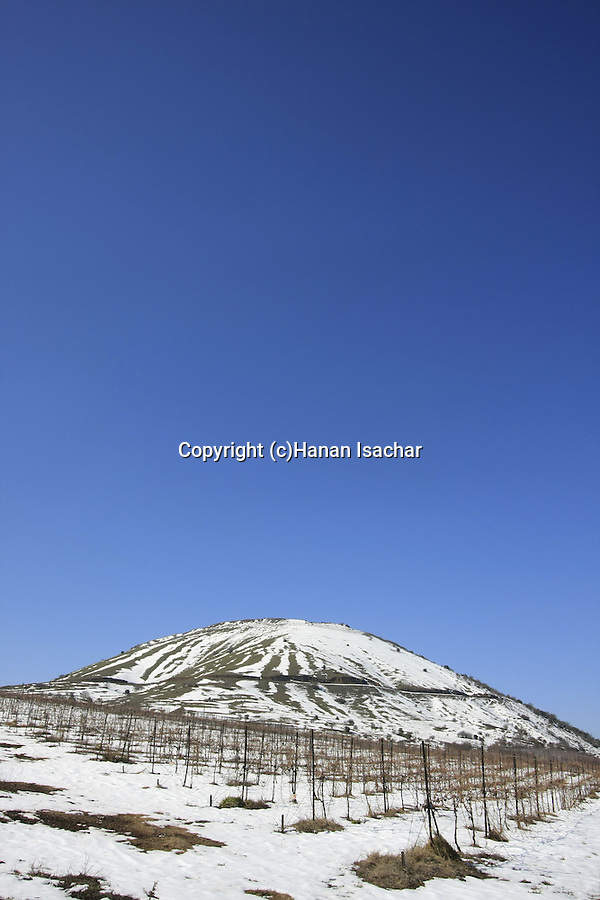 Golan Heights, a view of Mount Bental from road 98
