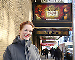 Grace McLean Broadway Debut Photo Shoot at the Imperial Theatre on November 25, 2016 in New York City.