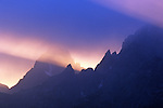 Sunset at the Grand Teton mountains, Grand Teton National Park, Wyoming, USA