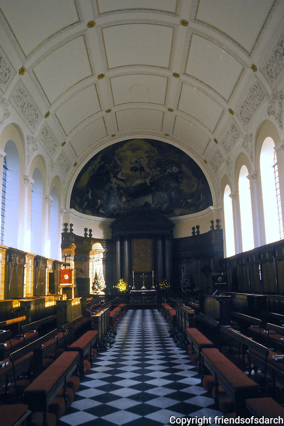 Sir Christopher Wren: Royal Hospital Chelsea, 1682-91. Chapel.