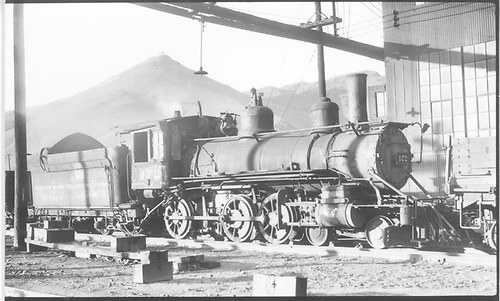 Engine #172 stored in Salida, CO.<br /> D&amp;RGW  Salida, CO  Taken by Perry, Otto C. - 9/20/1936