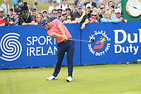 Jon Rahm (ESP) tees off the 18th tee during Sunday's Final Round of the Dubai Duty Free Irish Open 2019, held at Lahinch Golf Club, Lahinch, Ireland. 7th July 2019.<br /> Picture: Eoin Clarke | Golffile<br /> <br /> <br /> All photos usage must carry mandatory copyright credit (© Golffile | Eoin Clarke)