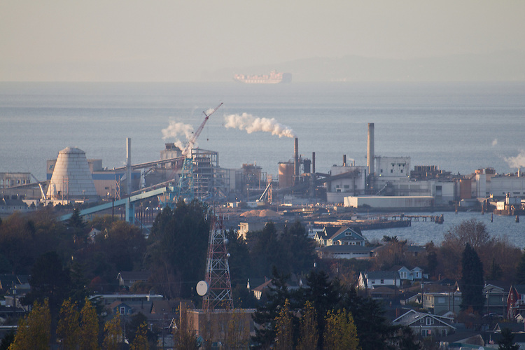 Port Angeles, Paper Mill owned by Nippon Paper Industries, Washington State, Pacific Northwest,