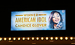 "Theatre Marquee unveiling for  ""Home For The Holidays"" starring Candice Glover, winner of ""American Idol"" Season 12 at August Wilson Theatre Theatre on November 3, 2017 in New York City."