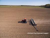 63801-10101 Farmer planting corn-aerial Marion Co. IL
