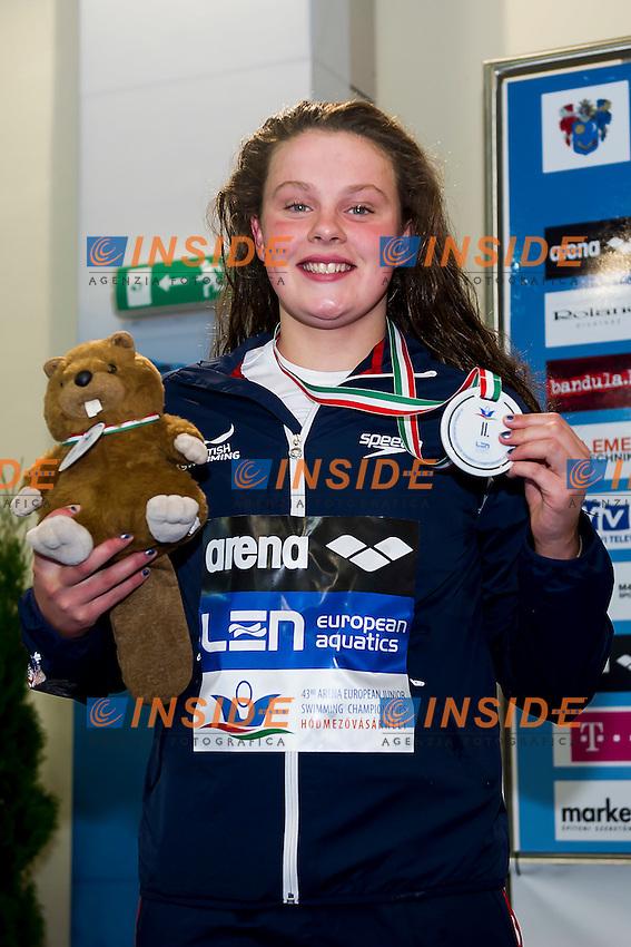 Hibbott Holly GBR<br /> 400 Freestyle Women Final Silver Medal<br /> LEN 43rd Arena European Junior Swimming Championships<br /> Hodmezovasarhely, Hungary <br /> Day02 07-07-2016<br /> Photo Andrea Masini/Deepbluemedia/Insidefoto