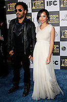 US singer Lenny Kravitz and his daughter Zoe Kravitz arrive at the 25th Independent Spirit Awards held at the Nokia Theater in Los Angeles on March 5, 2010. The Independent Spirit Awards is a celebration honoring films made by filmmakers who embody independence and originality..Photo by Nina Prommer/Milestone Photo