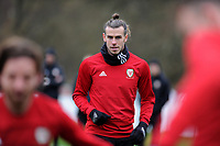 Gareth Bale of Wales in action during the Wales Training Session at The Vale Resort, Hensol, Wales, UK. Monday 19 November 2018