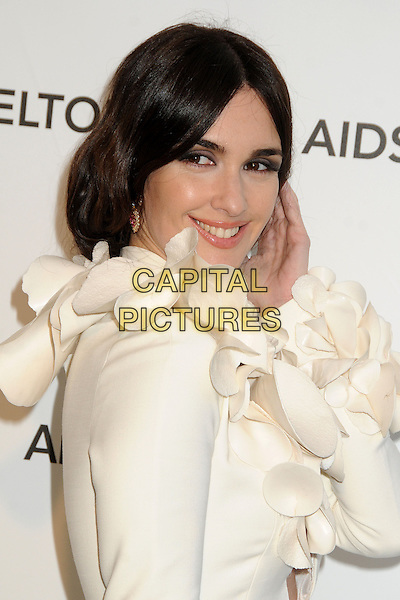 Paz Vega.21st Annual Elton John Academy Awards Viewing Party held at West Hollywood Park, West Hollywood, California, USA..February 24th, 2013.oscars headshot portrait white corsage hand arm side .CAP/ADM/BP.©Byron Purvis/AdMedia/Capital Pictures.