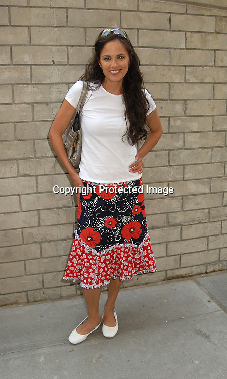 Terri Ivens in Anthropology skirt....outside All My Children on July 24, 2006 at the studio. ..Robin Platzer, Twin Images