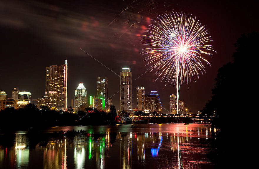 Austin's Downtown Waterfront Celebration on the 4th of July on Town Lake, Austin, Texas