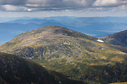 Looking across the Great Gulf Wilderness at Mount Jefferson from the summit of Mount Washington in the White Mountains, New Hampshire USA.