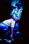 THE CHANGELING by Middleton adapted by McIntyre;<br /> Sid<br /> Directed by Sealey;<br /> Graeae Theatre Company;<br /> at the Phoenix Theatre, Exeter, UK;<br /> 11 October 2001;<br /> Credit: Patrick Baldwin;