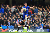 2nd December 2017, Stamford Bridge, London, England; EPL Premier League football, Chelsea versus Newcastle United; Daniel Drinkwater of Chelsea controls the ball under pressure from Matt Ritchie of Newcastle United