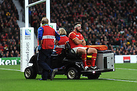 A dejected Scott Baldwin of Wales leaves the pitch during Match 41 of the Rugby World Cup 2015 between South Africa and Wales - 17/10/2015 - Twickenham Stadium, London<br /> Mandatory Credit: Rob Munro/Stewart Communications