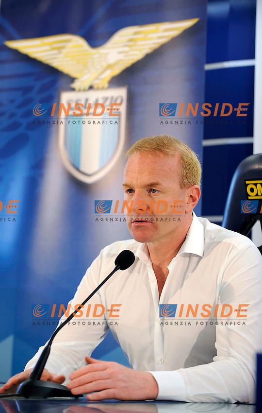 09 07 2016 Roma<br /> Conferenza stampa di presentazione dell'allenatore della Lazio <br /> nella foto Igli Tare<br /> Foto Marco Rosi/Fotonotizia/Insidefoto