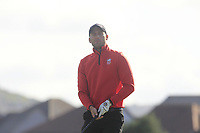 Paddy Mullins from Wales on the 12th tee during Round 2 Foursomes of the Men's Home Internationals 2018 at Conwy Golf Club, Conwy, Wales on Thursday 13th September 2018.<br /> Picture: Thos Caffrey / Golffile<br /> <br /> All photo usage must carry mandatory copyright credit (&copy; Golffile   Thos Caffrey)