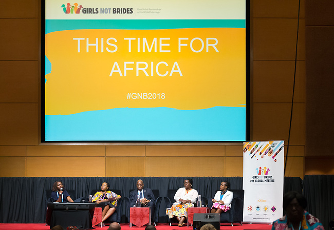 25 June, 2018, Kuala Lumpur, Malaysia : This Time For Africa session at the Girls Not Brides Global Meeting 2018 at the Kuala Lumpur Convention Centre. Picture by Graham Crouch/Girls Not Brides