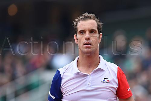 29.05.2016. Stade Roland Garros, Paris, France. Roland Garros French Open Tennis Day 8.  Richard Gasquet (FRA)
