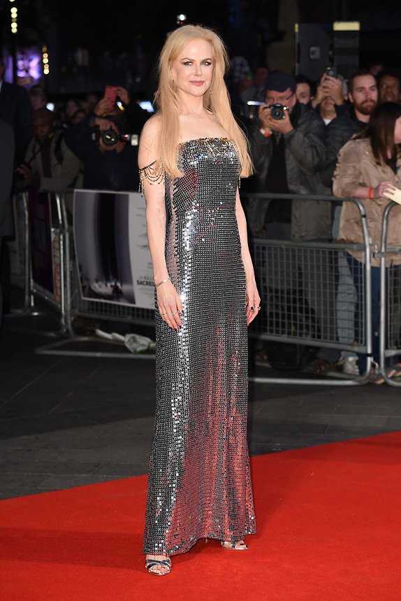 "Nicole Kidman<br /> arriving for the London Film Festival 2017 screening of ""Killing of a Sacred Deer"" at Odeon Leicester Square, London<br /> <br /> <br /> ©Ash Knotek  D3332  12/10/2017"