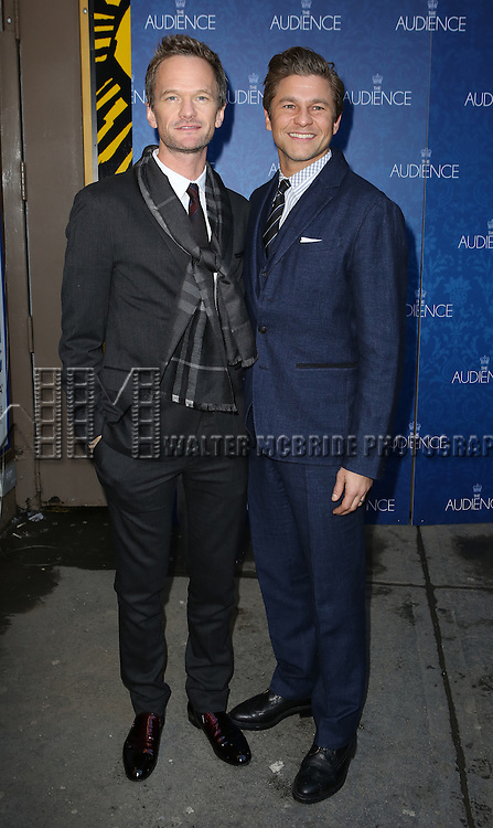 Neil Patrick Harris and David Burtka attends the Broadway Opening Night Performance of 'The Audience' at The Gerald Schoendeld Theatre on March 8, 2015 in New York City.